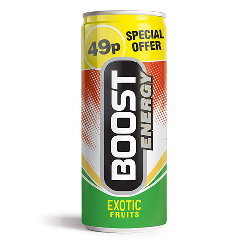 Boost Energy Exotic Fruits Can