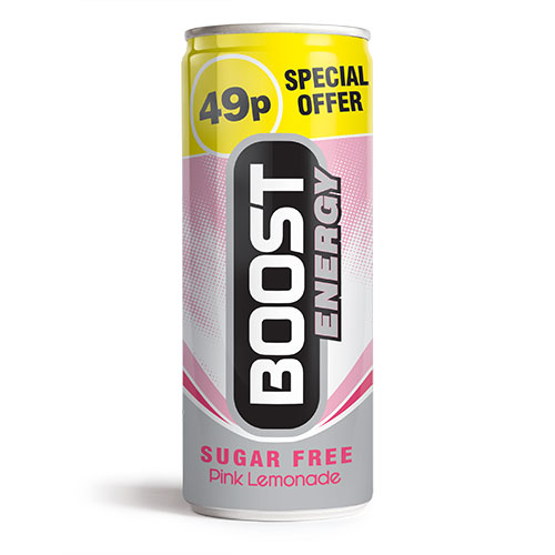 Boost Energy Pink Lemonade Can