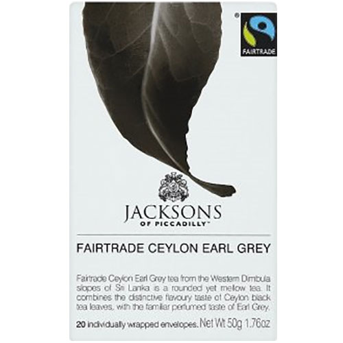Jacksons of Piccadilly Fairtrade Ceylon Earl Grey