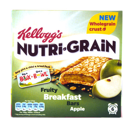 Kelloggs Nutri-Grain Apple Fruity Breakfast Bar