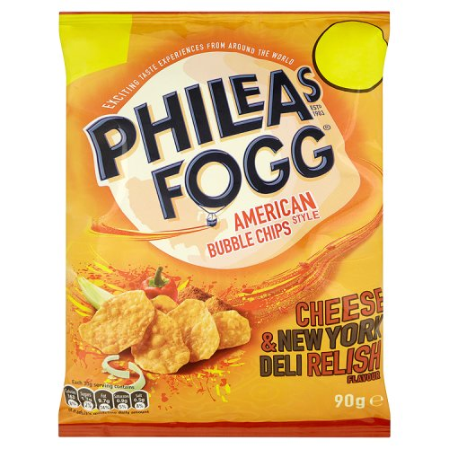 KP Phileas Fogg Cheese And New York Deli Relish Bubble Chips