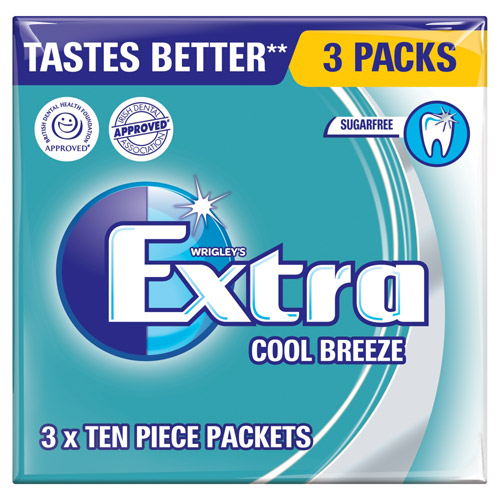 Mars Extra Cool Breeze Sugarfree Gum 3 Pack