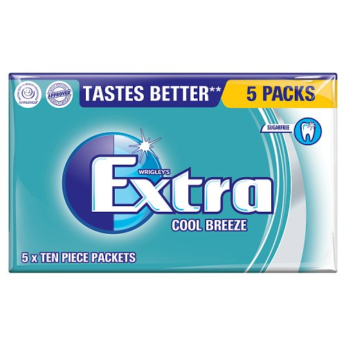 Mars Extra Cool Breeze Sugarfree Gum 5 Pack