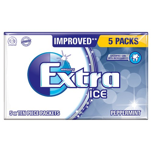 Mars Extra Ice Peppermint Sugarfree Gum 5 Pack