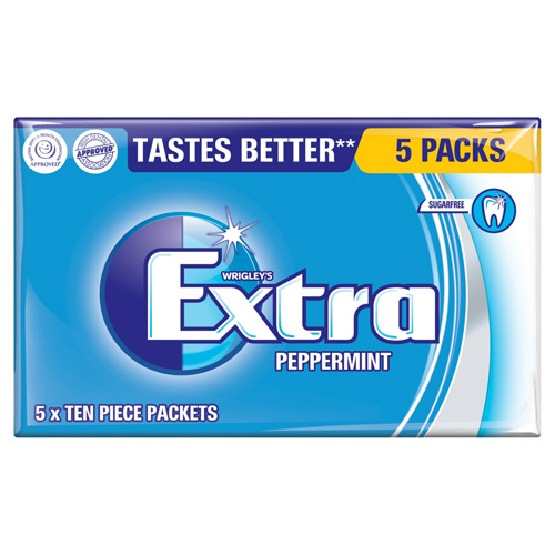 Mars Extra Peppermint Sugarfree Gum 5 Pack