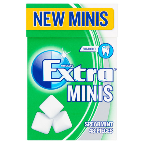 Mars Extra Spearmint 48 Mini Pellet Gum Handy Box