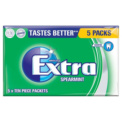 Mars Extra Spearmint Sugarfree Gum 5 Pack