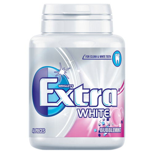 Mars Extra White Bubblemint Bottle Pack Sugarfree Gum