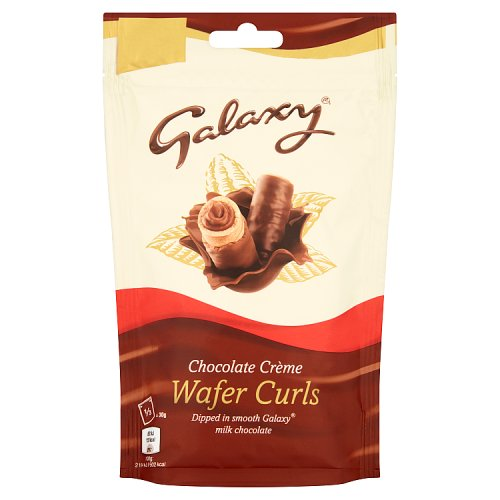 Mars Galaxy Chocolate Creme Wafer Curls Bag