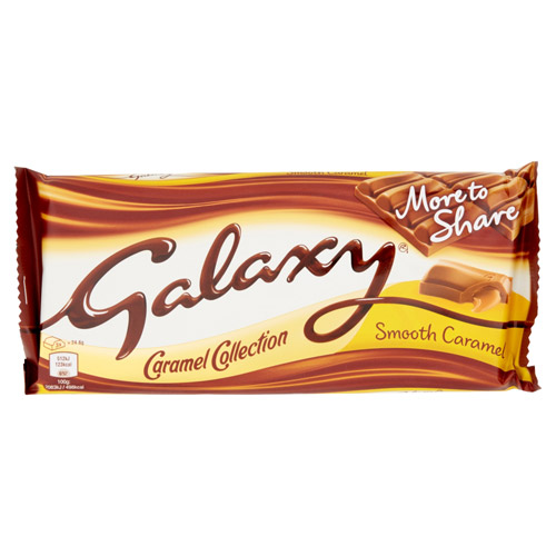 Mars Galaxy Smooth Caramel Chocolate More To Share Block