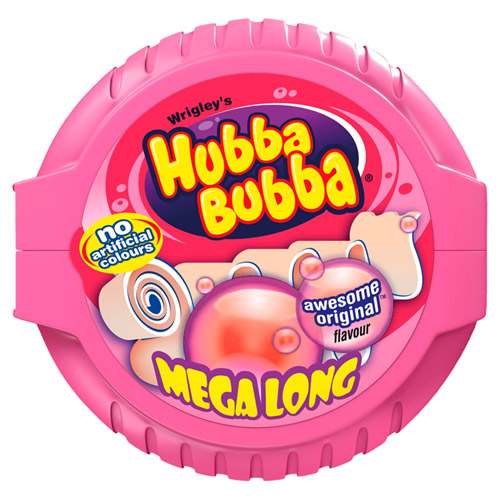Mars Hubba Bubba Bubble Tape Fancy Fruit Bubble Gum
