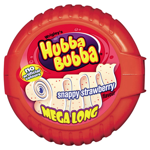 Mars Hubba Bubba Bubble Tape Snappy Strawberry Bubble Gum