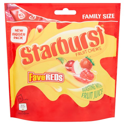 Mars Starburst Fave Reds Pouch