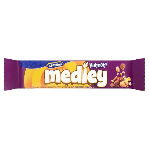 Mcvities Medley Bar Hobnobs Raisin And Milk Chocolate Cereal And Biscuit Chunks