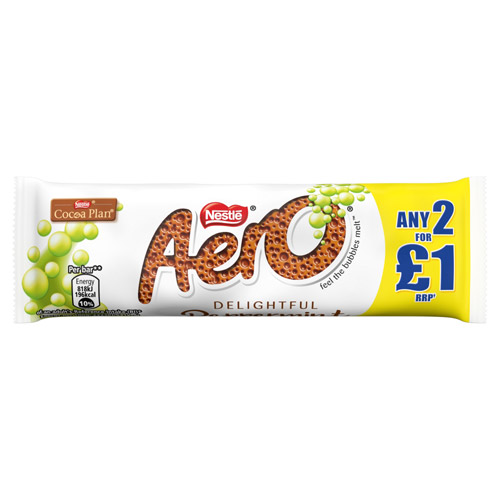 Nestle Aero Bubbly Bar Peppermint PR 2for£1