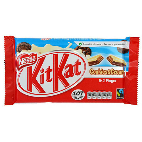 Nestle Kit Kat 2 Finger Cookie and Cream 5 and 2 free