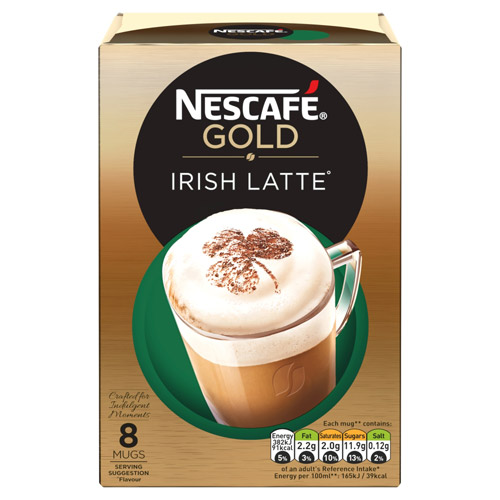 Nestle Nescafe Gold Irish Latte 8 Sachet