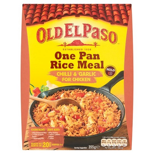 Old El Paso Chilli And Garlic For Chicken Rice Kit