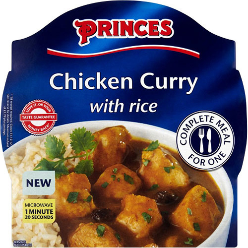 Princes Chicken Curry With Rice Microwave Meal For One