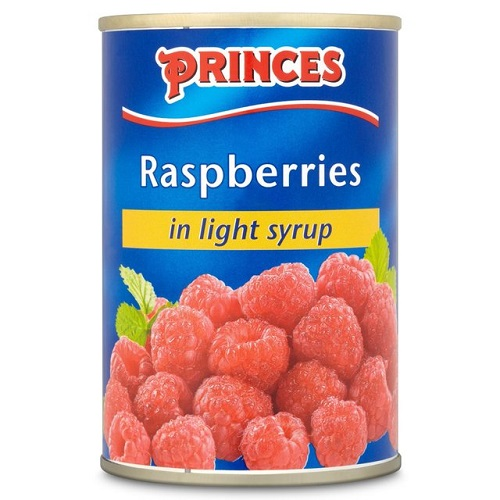 Princes Raspberries In Light Syrup