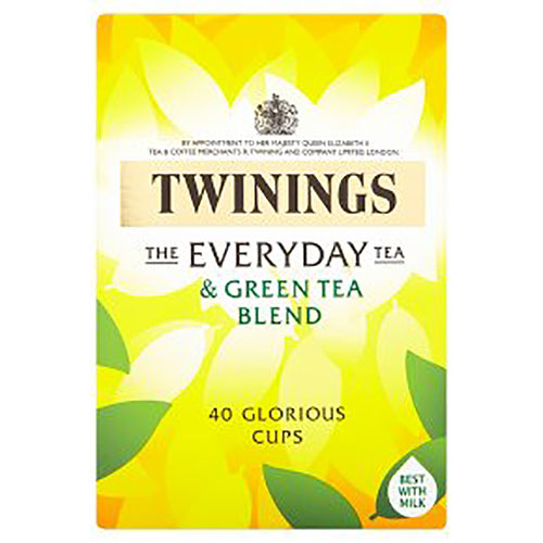Twinings The Everyday Tea And Green Tea Blend 40s