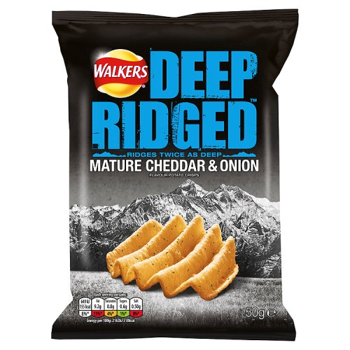 Walkers Deep Ridge Mature Cheddar And Onion